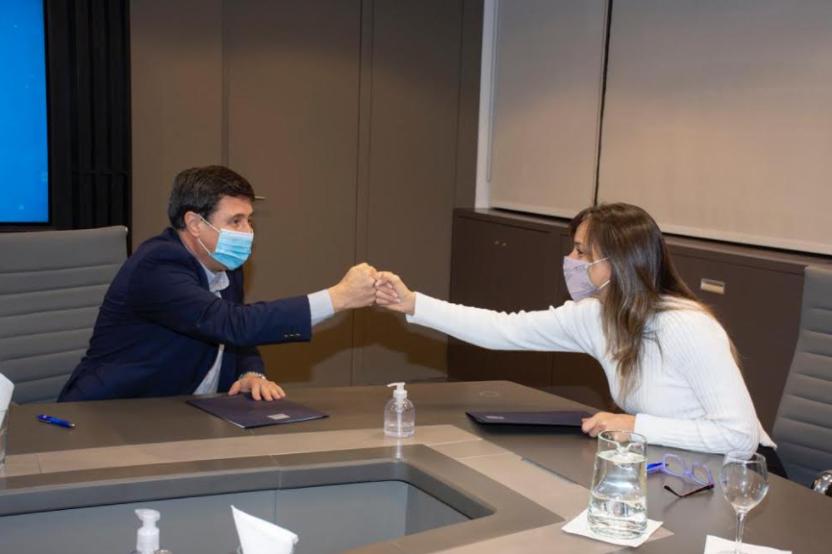 """MALENA GALMARINI Y DANIEL ARROYO FIRMARON UN CONVENIO DE COLABORACIÓN PARA """"POTENCIAR TRABAJO"""""""