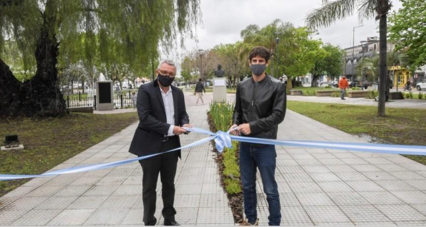 JUAN ANDREOTTI Y JULIO ZAMORA INAUGURARON LAS PLAZAS PELLEGRINI Y CASTELLARI EN LA ZONA DEL CANAL