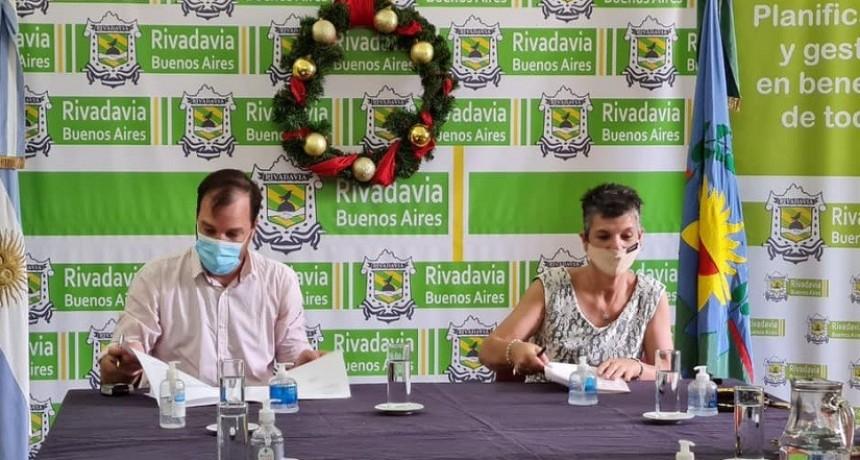 LA MUNICIPALIDAD DE RIVADAVIA FIRMÓ UN CONVENIO PARA AMPLIACIÓN DE RESIDENCIA EN ESCUELA AGRARIA